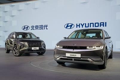 现代起亚多款纯电动车型亮相上海车展
