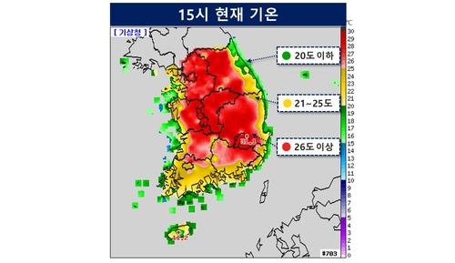 韩今最高气温超25度创今年来最高纪录