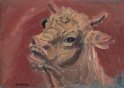 资料图片:李健熙藏品《黄牛》将捐赠给国立现代美术馆。 韩联社/三星供图(图片严禁转载复制)