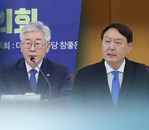 民调:韩下届总统人选民望李在明24%尹锡悦23%