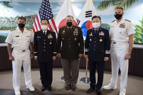 韩美日参谋长在夏威夷举行会晤