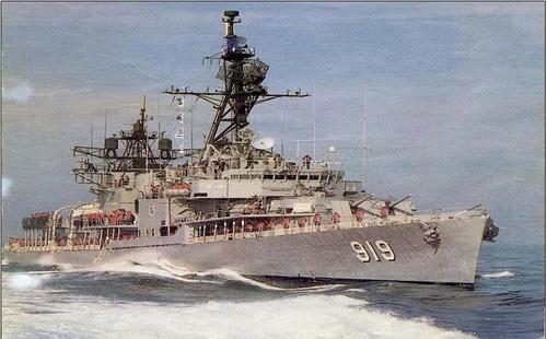 """资料图片:老版""""大田""""号(DD-919) 海军供图(图片严禁转载复制)"""