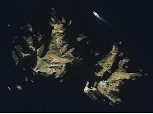 独岛卫星图像 国土交通部供图(图片严禁转载复制)