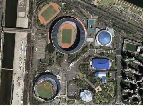 蚕室体育场卫星图像 国土交通部供图(图片严禁转载复制)