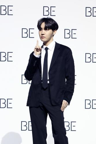 资料图片:防弹少年团(BTS)成员j-hope(郑号锡) 韩联社/BIGHIT MUSIC供图(图片严禁转载复制)