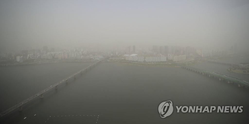 详讯:韩国多地发布沙尘预警
