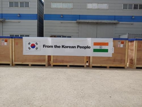 韩国向印度紧急援助抗疫物资应对疫情