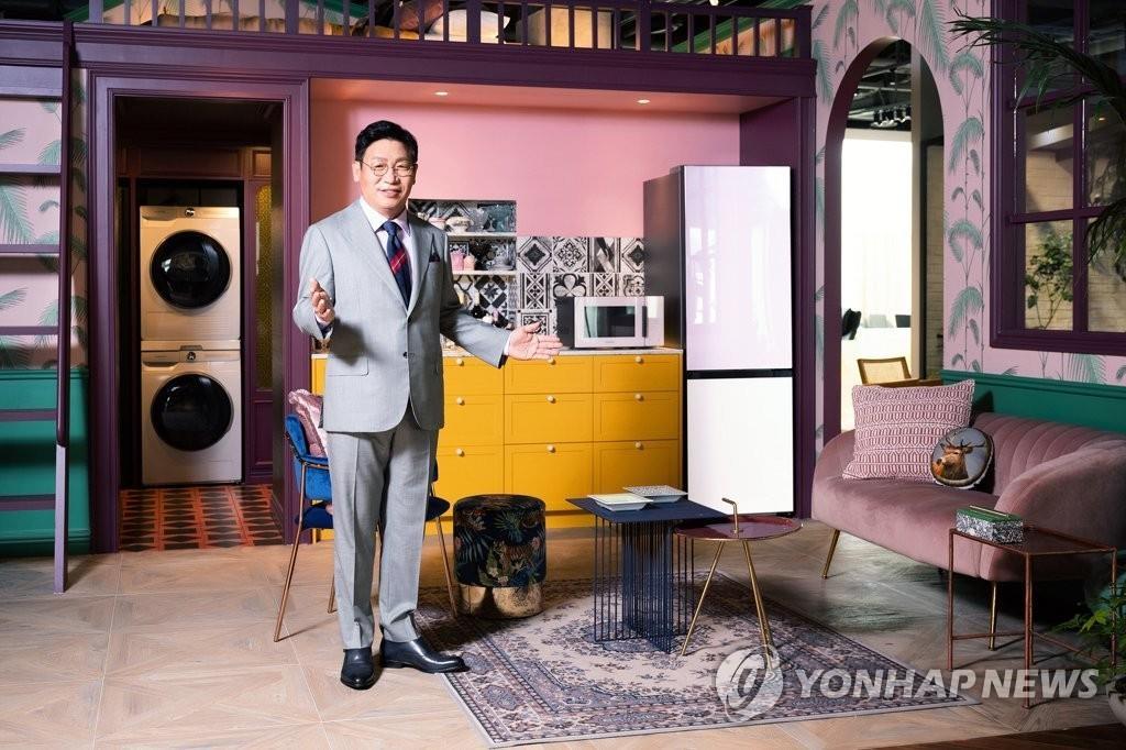 """5月11日,三星电子""""BESPOKE HOME 2021""""活动在线举行。 韩联社/三星电子供图(图片严禁转载复制)"""