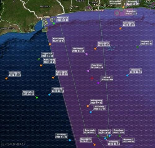 又一批韩籍船员在西非几内亚湾遭绑架