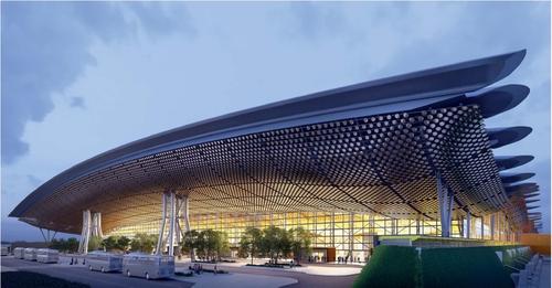 桃园国际机场第三航站楼示意图 POSCO供图(图片严禁转载复制)
