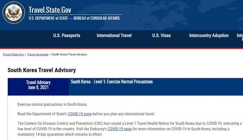 美国下调韩国旅游安全预警级别至最低级