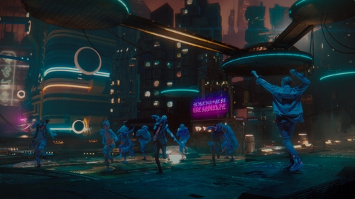 韩国现代舞蹈团Ambiguous Dance Company亮相酷玩乐队新歌MV舞台。 Ambiguous Dance Company供图(图片严禁转载复制)
