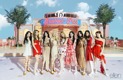 TWICE在《艾伦秀》公开新歌舞台。 JYP娱乐供图(图片严禁转载复制)