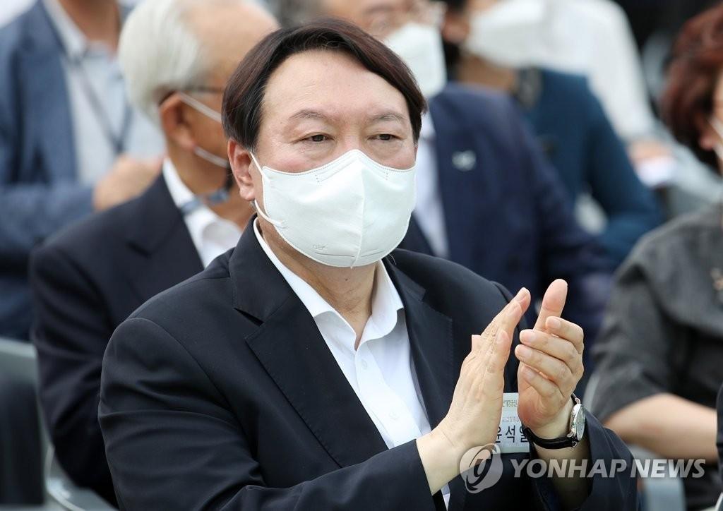 资料图片:前检察总长尹锡悦 韩联社