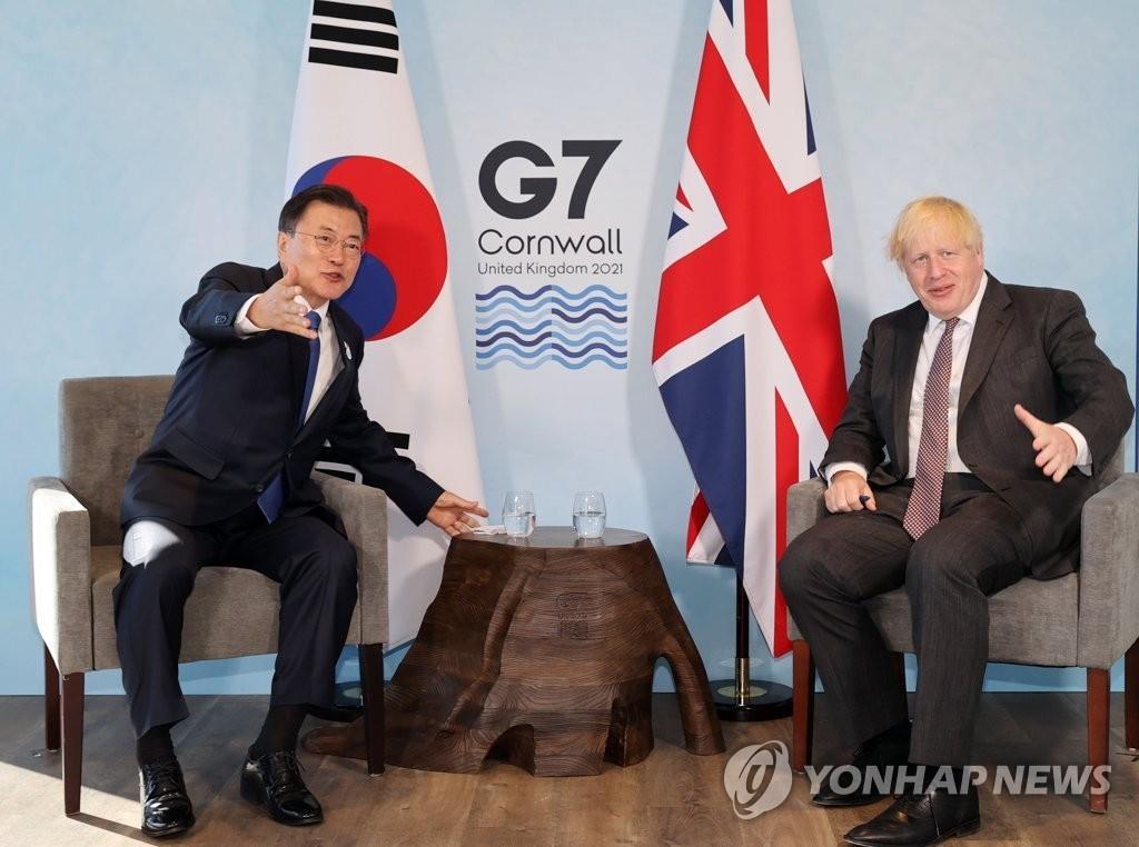 详讯:韩英领导人举行会谈