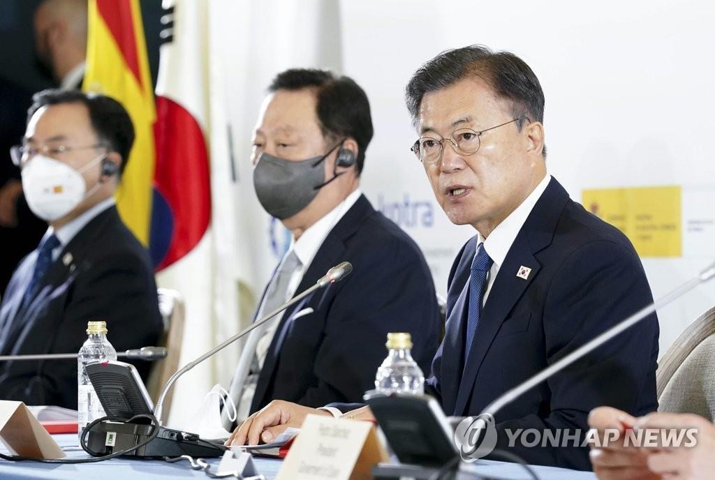 文在寅出席韩西商务论坛提出深化数字低碳经济合作
