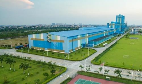 资料图片:POSCO旗下广东热镀锌工厂(CGL) 韩联社/POSCO供图(图片严禁转载复制)