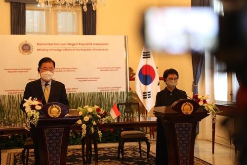 详讯:韩外长郑义溶分别与印尼总统和外长举行会谈