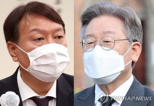 民调:韩总统人选支持率李在明尹锡悦分居朝野首位