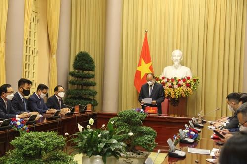 SK对越南主席表示愿优先提供自研疫苗
