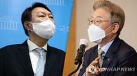 民调:韩总统人选民望尹锡悦26.9%李在明26%