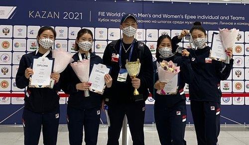 东奥女子重剑团体韩国击败中国晋级决赛