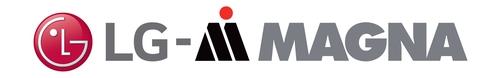 资料图片:LG麦格纳电动传动系统公司标识 韩联社/LG电子供图(图片严禁转载复制)
