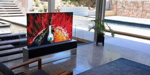全球首款可卷式电视LG玺印OLED R LG电子供图(图片严禁转载复制)