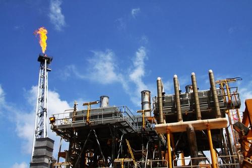 资料图片:SK创新位于越南的海洋石油产区 SK创新供图(图片严禁转载复制)
