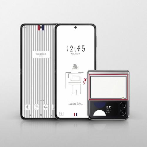 三星电子与Thom Brown推出联名限量款Galaxy Z Flip3。 三星电子供图(图片严禁转载复制)