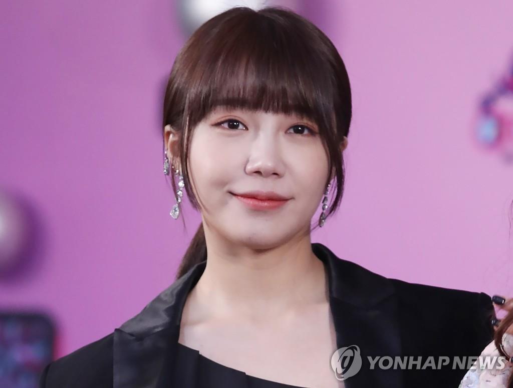 资料图片:女团Apink成员郑恩地 韩联社