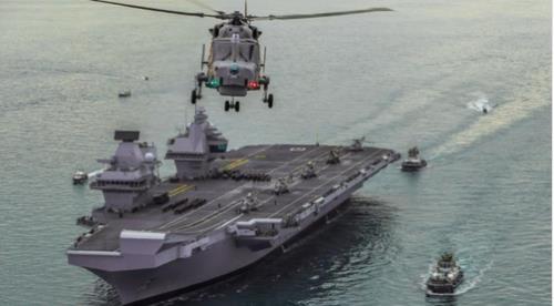 韩英海军明在韩国东海实施联合军演
