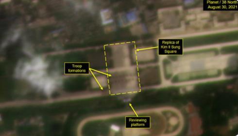 消息:朝鲜兵力集结平壤美林机场疑排练阅兵
