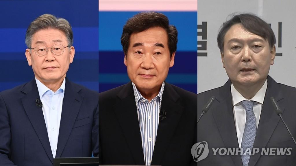 民调:韩下届总统人选民望李在明领跑