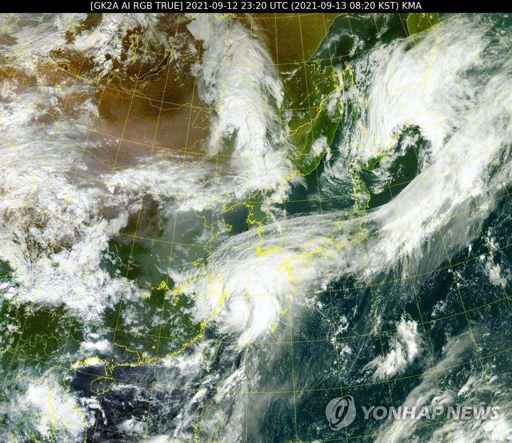 """台风""""灿都""""将给韩国南部带来明显降雨"""