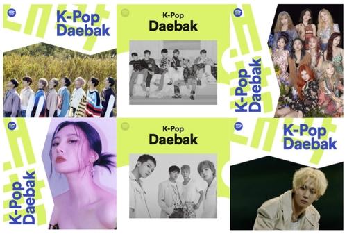 声田K-POP歌单串流播放量逼近17亿次