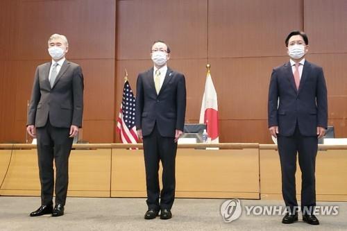 韩美日对朝代表在东京会晤