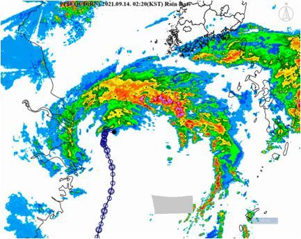 """台风""""灿都""""本周将给韩南部地区带来强降雨"""
