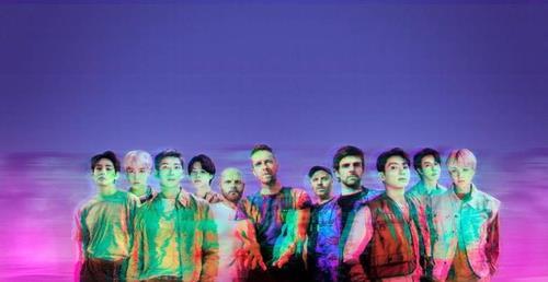 防弹少年团和酷玩乐队公开新歌短视频