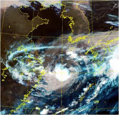 """台风""""灿都""""未来两天将直接影响韩国"""