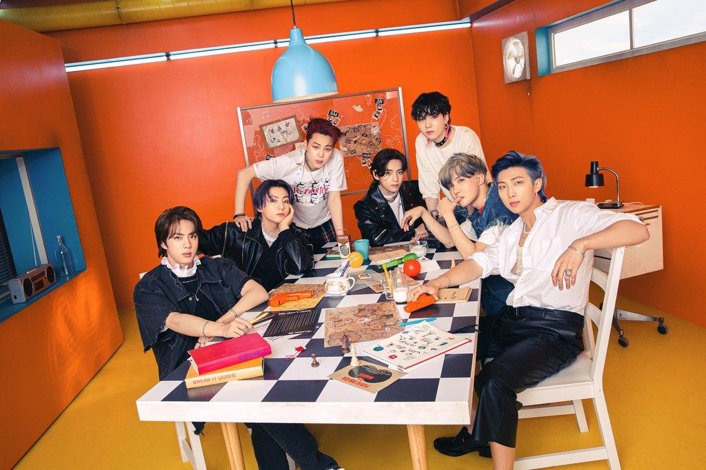资料图片:防弹少年团(BTS) 韩联社/BIGHIT MUSIC供图(图片严禁转载复制)