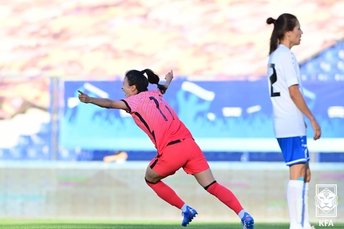 韩国女足力取乌兹别克斯坦锁定亚洲杯资格