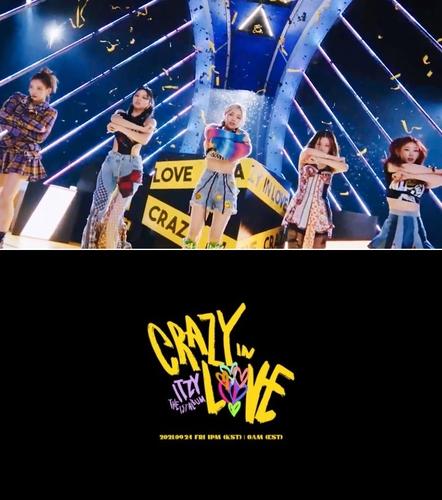 女团ITZY首张正规专辑《CRAZY IN LOVE》主打歌《LOCO》的预告照 韩联社/JYP娱乐供图(图片严禁转载复制)
