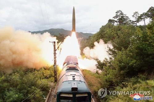 韩军研判朝鲜发射一枚疑似近程导弹的飞行器