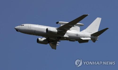 """资料图片:韩军""""和平之眼""""预警机 韩联社"""