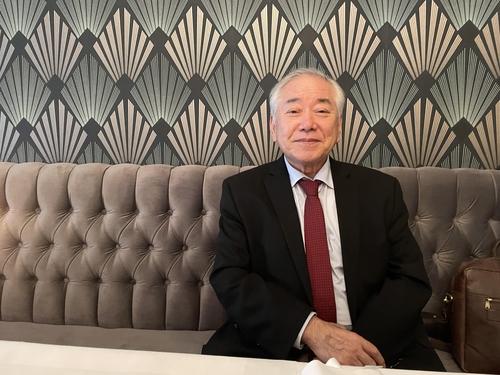 韩国世宗研究所理事长文正仁接受韩联社专访。 韩联社