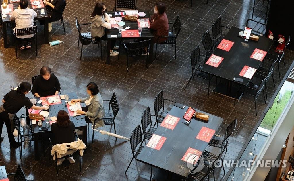 资料图片:首尔一家餐厅 韩联社