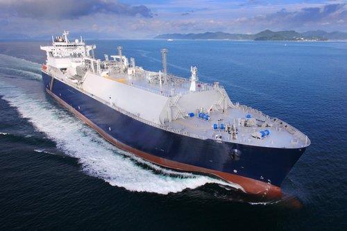 资料图片:三星重工建造的LNG船 三星重工供图(图片严禁转载复制)