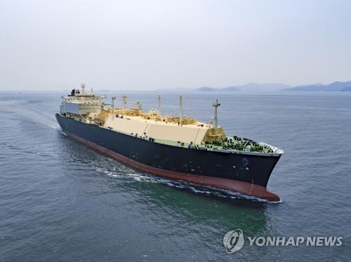 资料图片:大宇造船海洋建造的LNG船 大宇造船海洋供图(图片严禁转载复制)