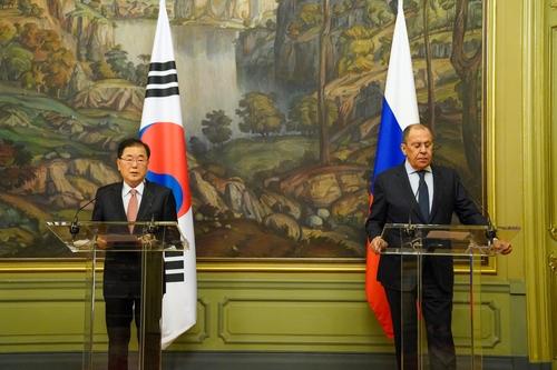 韩俄外长在莫斯科举行会谈